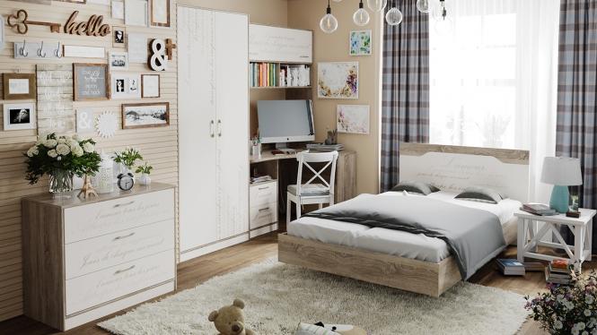 Набор мебели для детской комнаты «Брауни» №1